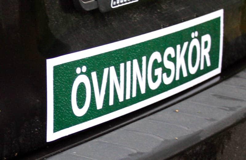 تعليم السياقة في السويد على موقع السويد الآن SwedNu