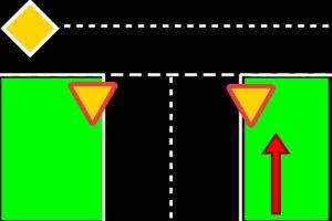طريق مع حقلين سياقة باتجاه واحد